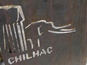 Panneaux d'interprétation à Chilhac